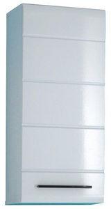 VISEĆI ORMAR - Crna/Bela, Dizajnerski, Plastika/Pločasti materijal (38/87/30cm) - Xora