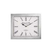 TISCHUHR 26/30/6 cm - Silberfarben, Glas/Metall (26/30/6cm) - Ambia Home