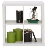PREGRADA - bijela, Design, drvni materijal (77/77/38cm)
