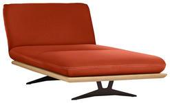 OTTOMANE in Holz, Textil Orange  - Beige/Schwarz, Design, Holz/Textil (114/92/165-218cm) - Dieter Knoll