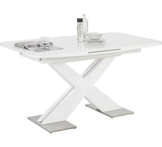 JÍDELNÍ STŮL, bílá - bílá, Design, kov/kompozitní dřevo (140(175)/85/76cm) - Hom`in
