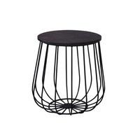 POMOĆNI STOLIĆ - crna, Trend, drvo/metal (45/45/45cm) - Carryhome