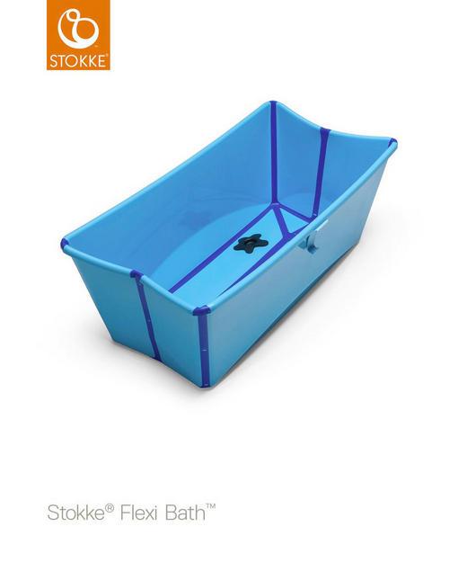 BABYBADEWANNE - Blau, Basics, Kunststoff (66/34/24cm) - STOKKE