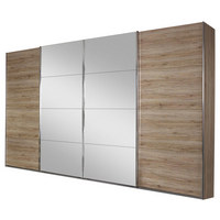SCHWEBETÜRENSCHRANK in Eichefarben - Eichefarben, Design, Holzwerkstoff (316/211/62cm) - Carryhome