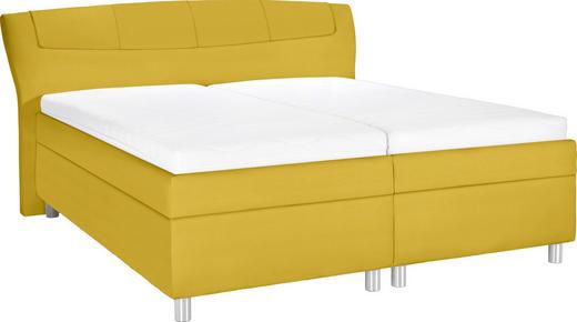 POLSTERBETT 180/200 cm  in Gelb - Chromfarben/Gelb, KONVENTIONELL, Holz/Textil (180/200cm) - Esposa