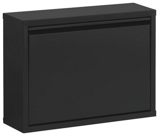SCHUHKIPPER lackiert Schwarz - Schwarz, Design, Metall (50/37/15cm) - Carryhome