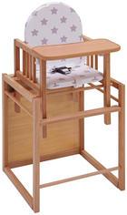 KOMBINIRAN STOL ZA HRANJENJE - naravna/bukev, Konvencionalno, umetna masa/leseni material - My Baby Lou