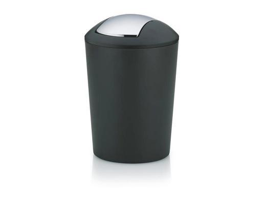 KOZMETIČNI KOŠ MARTA 5 L - črna/srebrna, Trendi, umetna masa (19,5/29cm) - KELA