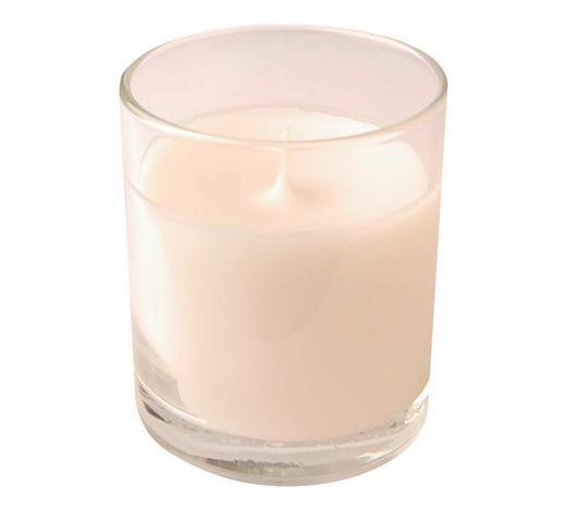KERZE IM GLAS - Transparent/Weiß, Basics, Glas (7,2/8cm) - Ambia Home