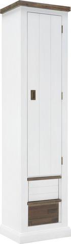 ŠATNÍ SKŘÍŇ - bílá/tmavě hnědá, Trend, dřevo (50/200/40cm) - LANDSCAPE