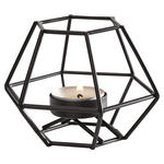 KERZENHALTER - Schwarz, Design, Metall (11/8,5/9,5cm) - Ambia Home