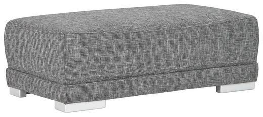HOCKER Webstoff Dunkelgrau - Dunkelgrau/Silberfarben, Design, Holz/Textil (125/43/65cm) - Carryhome