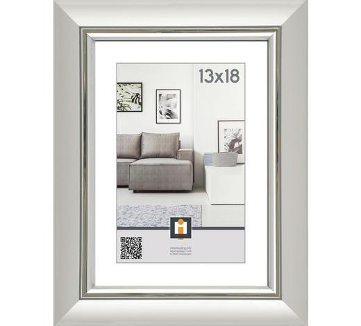 RÁM 13X18CM, 23/18/2 cm, barvy stříbra - barvy stříbra, Basics, umělá hmota/sklo (23/18/2cm)