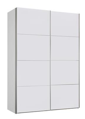 SKJUTDÖRRSGARDEROB - vit/alufärgad, Design, metall/träbaserade material (150/216/68cm) - Carryhome
