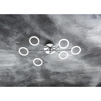 LED STROPNÍ SVÍTIDLO - barvy chromu, Design, kov/umělá hmota (76/15/13cm) - Novel