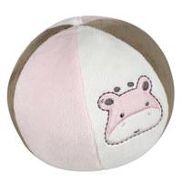 PLIŠANA LOPTA - roza/bijela, Basics, tekstil (15cm) - My Baby Lou