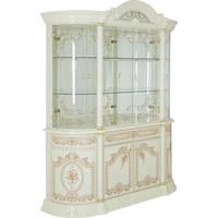 VITRINE in Beige - Beige/Goldfarben, LIFESTYLE, Glas/Holzwerkstoff (189/228/56cm)