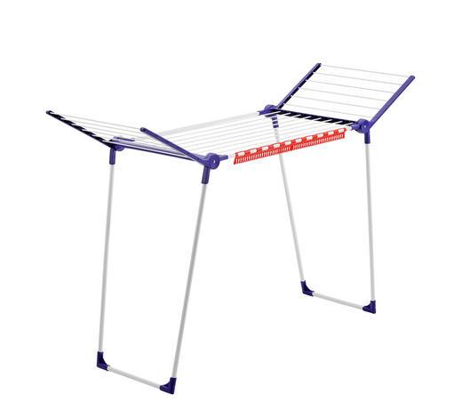 STANDTROCKNER - Blau/Weiß, Basics, Kunststoff/Metall - Leifheit