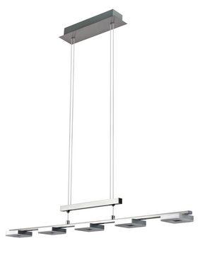 LED-PENDELLAMPA - alufärgad/kromfärg, Design, metall/plast (90,5/8/150cm) - Novel