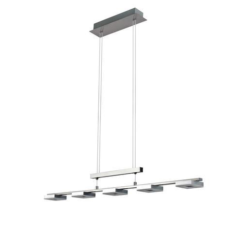 LED-HÄNGELEUCHTE - Chromfarben/Alufarben, Design, Kunststoff/Metall (90,5/8/150cm) - Novel