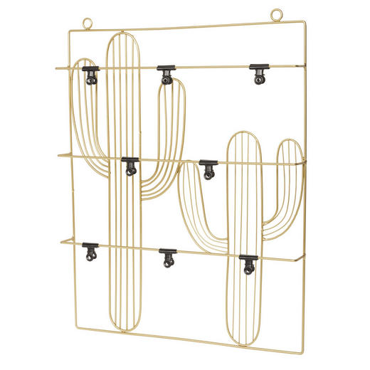 MEMOBOARD - Goldfarben/Schwarz, Design, Metall (40/51,6/4,5cm)