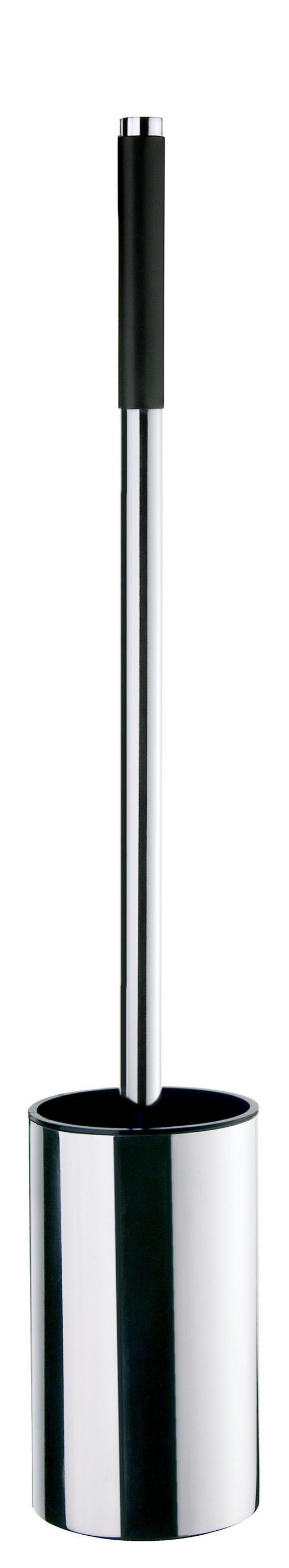 WC-BÜRSTENGARNITUR in Metall - Edelstahlfarben, Basics, Kunststoff/Metall (0/52cm)