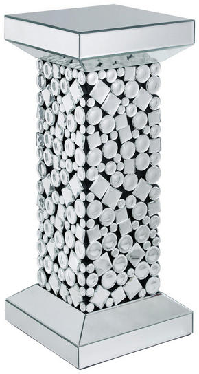 AVLASTNINGSBORD - silver/svart, Design, glas/träbaserade material (30,5/71/30,5cm) - Ambia Home