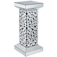 ODKLÁDACÍ STOLEK - barvy stříbra/černá, Design, dřevěný materiál/sklo (30,5/71/30,5cm) - Ambia Home