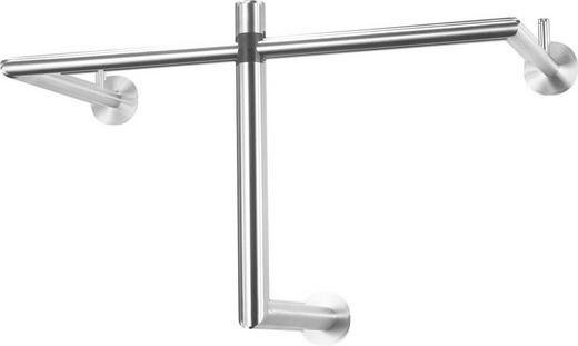 WANDGARDEROBE Edelstahlfarben - Edelstahlfarben, Design, Metall (67/36/30cm)
