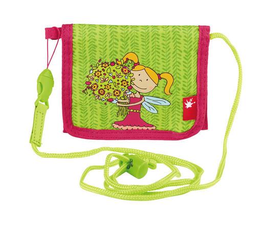 Kinderbrustbeutel - Pink/Hellgrün, Textil (13/10/2cm) - Sigikid