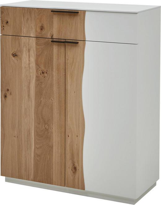 SCHUHSCHRANK Wildeiche lackiert Eichefarben - Eichefarben/Schwarz, Design, Holz/Holzwerkstoff (84/103/36cm) - Dieter Knoll