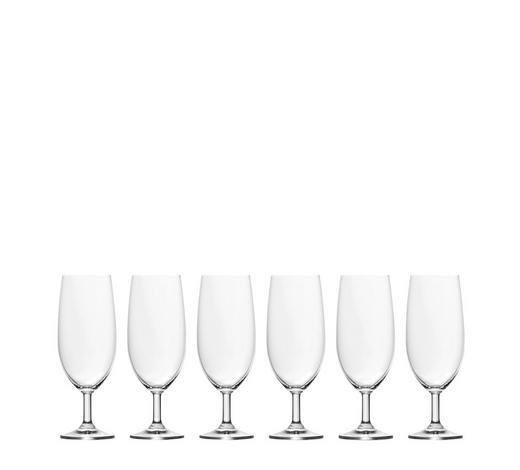 Bierglas-Set 6-teilig  - Klar, Basics, Glas (0,35cm) - Leonardo