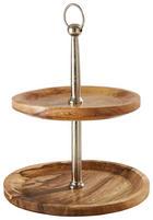 ETAGERE - Braun, LIFESTYLE, Holz/Metall (35/41cm)