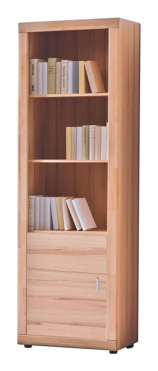 REGAL Buche massiv Buchefarben - Buchefarben/Silberfarben, KONVENTIONELL, Holz/Kunststoff (65/201/37cm) - CANTUS