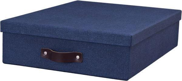 BRIEFABLAGE Karton Blau - Blau, Basics, Karton (35/26/8cm) - BOXXX