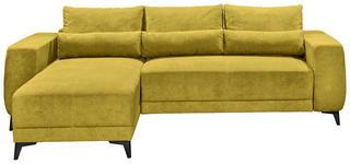 WOHNLANDSCHAFT in Textil Gelb  - Gelb/Schwarz, MODERN, Kunststoff/Textil (180/275cm) - Carryhome