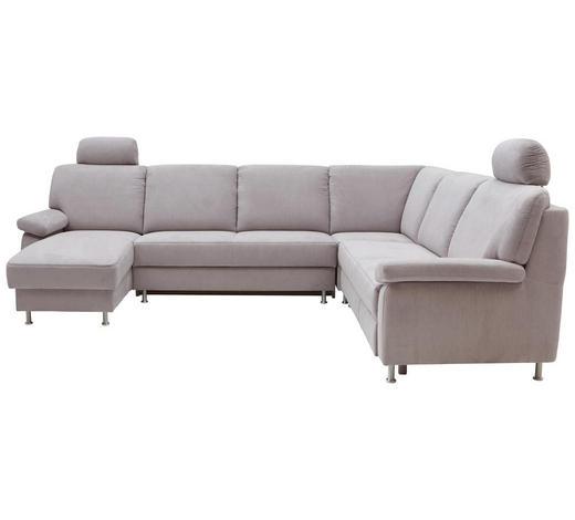 WOHNLANDSCHAFT in Textil Beige - Beige, KONVENTIONELL, Textil/Metall (155/313/250cm) - Ada Austria