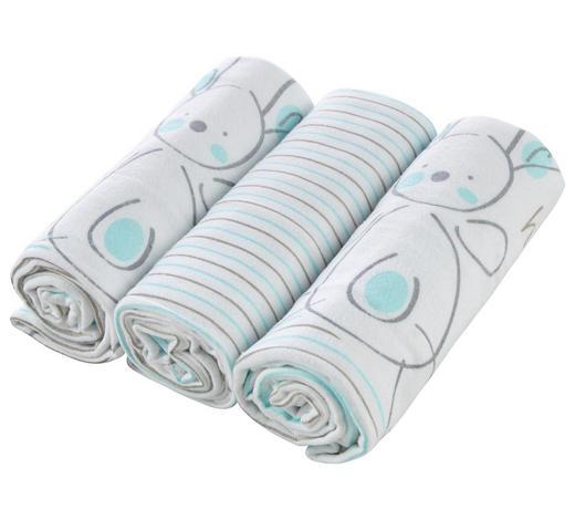 PLATNENA PELENA - bijela/plava, Basics, tekstil (75/75cm) - My Baby Lou
