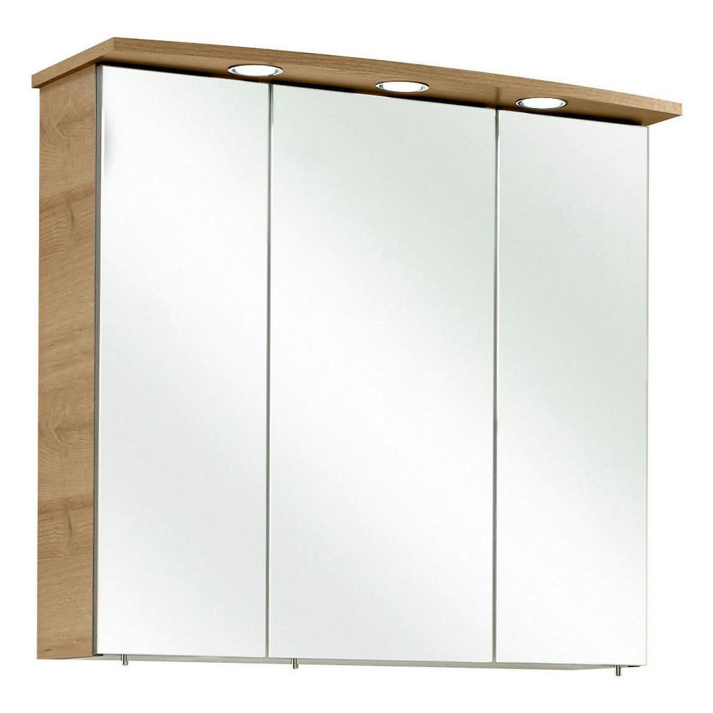 Image of Xora Spiegelschrank 75/72/20 cm , Bacoli Ii , Eichefarben , Kunststoff , 6 Fächer , 75x72x20 cm , Dekorfolie,Nachbildung , Typenauswahl , 001977016409