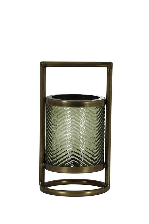 WINDLICHT - Grün, LIFESTYLE, Glas/Metall (12/24cm)