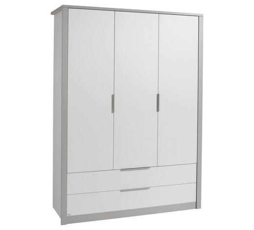 KLEIDERSCHRANK 3-türig Grau, Weiß