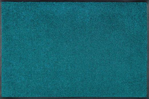 FUßMATTE 60/90 cm Uni Türkis - Türkis, Basics, Kunststoff/Textil (60/90cm) - Esposa