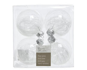 JULGRANSKULOR SET - transparent, Klassisk, glas (7cm)