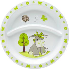 BARNTALLRIK - vit/grön, Trend, plast (21,5/1,8cm) - My Baby Lou
