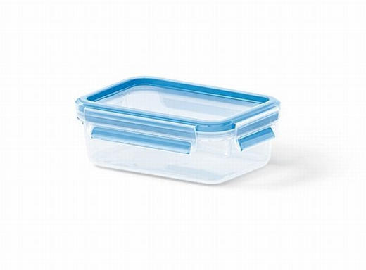 FÖRVARINGSBURK, 0,55L - blå/transparent, Basics, plast (16.3/11.3/5.8cm) - EMSA