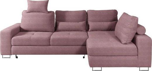 WOHNLANDSCHAFT in Textil Beere - Beere, Design, Textil/Metall (260/188/cm) - Hom`in