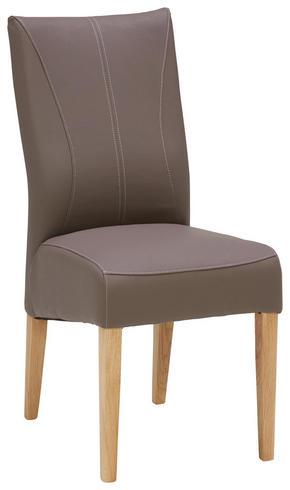 STOL - mullvadsfärgad/gråbrun/ekfärgad, Klassisk, trä/textil (44/98/64cm) - Venda