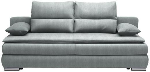SCHLAFSOFA in Textil Hellblau - Silberfarben/Hellblau, KONVENTIONELL, Kunststoff/Textil (207/94/90cm) - Venda