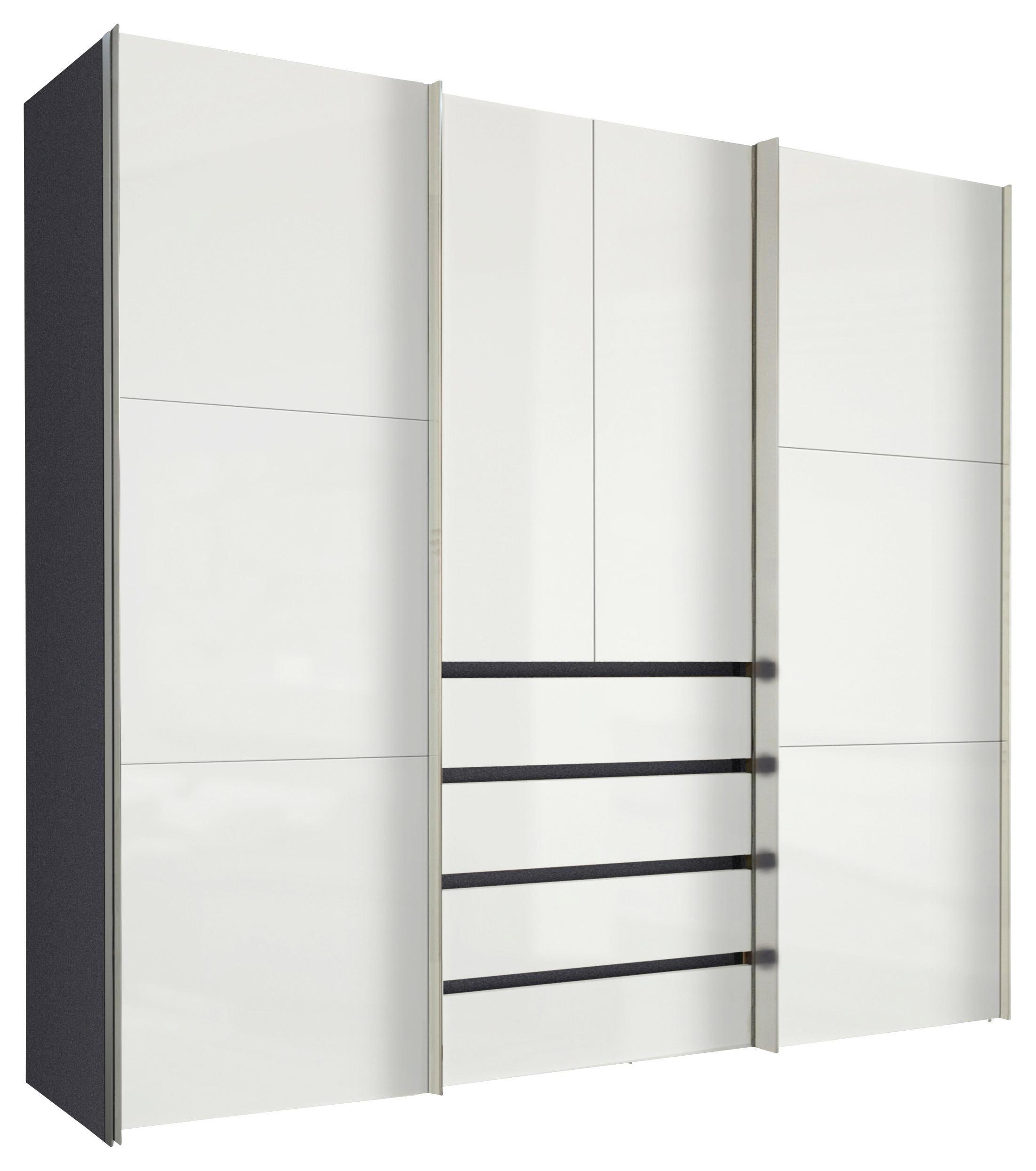 GARDEROB - vit/alufärgad, Design, metall/träbaserade material (250/236/68cm) - Hom`in