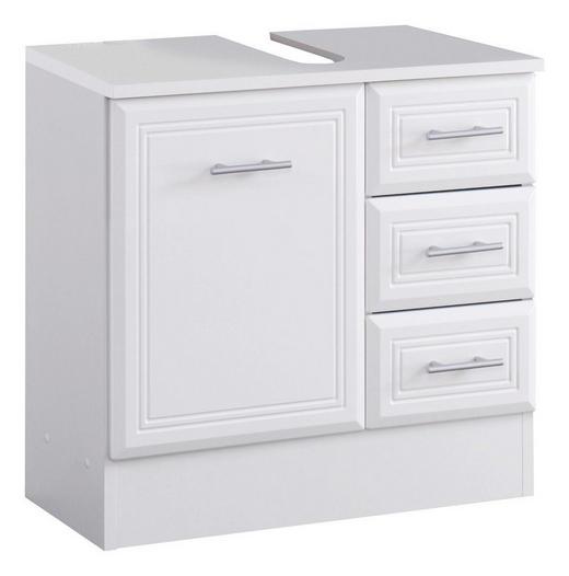 WASCHBECKENUNTERSCHRANK Weiß - Silberfarben/Weiß, Design, Holzwerkstoff/Kunststoff (60/56/35cm) - Carryhome